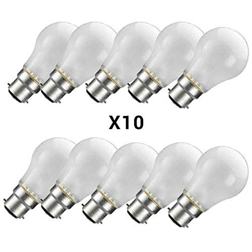 Price comparison product image 10 x 100w WATT LIGHT BULB PEARL BAYONET FITTING LAMP