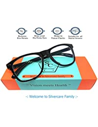 SILVERCARE Blue Ray Cut UV420 unisex Wayfarer Spectacle