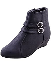 Adorn Black Synthetic Leather Women Boots