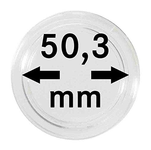 Lindner S22705030P Münzkapseln 50.30 mm-10er Pack