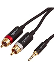 AmazonBasics 3.5mm to 2-Male RCA Adapter cable - 4 feet
