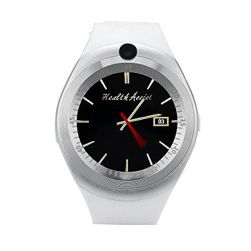 Jiameng smartwatches - 2018 bluetooth smart watch phone mate pieno schermo sim fotocamera per android smart watch bianco
