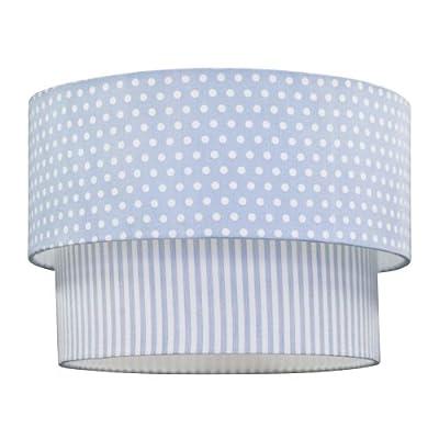Kids Concept Deckenlampe Lampenschirm 2-lagig weiß-hellblau von scandictoys auf Lampenhans.de