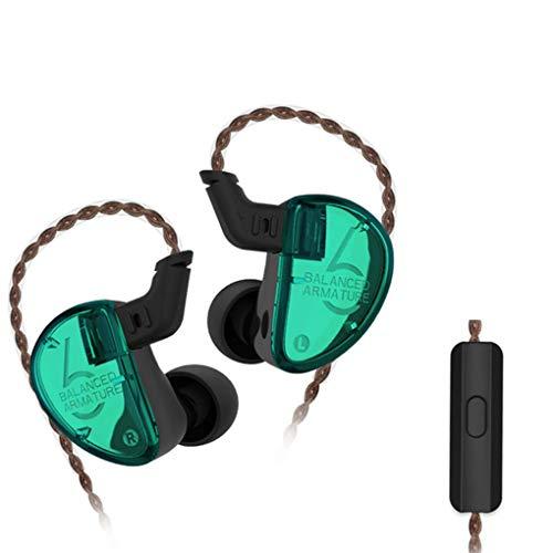 Sunlera KZ AS06 3BA Drive In-Ohr-Kopfhörer 3 Balanced Armature Abnehmbare Detach 2PIN Kabel HiFi Sport-Kopfhörer (Triple-balanced-armature -)
