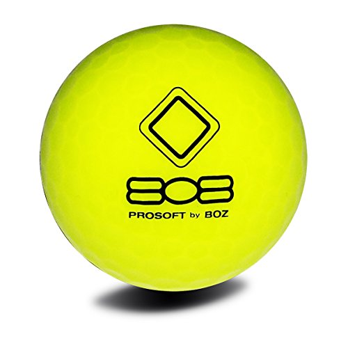 12 Vision Pro Soft 808 Super Yellow Golfbälle Gelb - Soft Sichtbarkeit Distance mit UVee Tech (R) Leuchtend