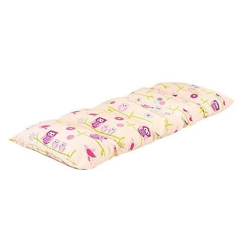 Children's Owls Print Folding Pillow Sleepover Nap Mat with Ties