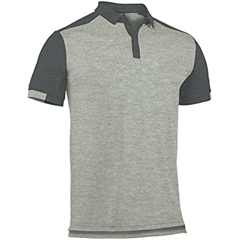 Joma - Polo comfort gris melange claro m/c para hombre