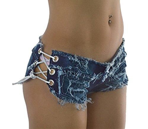 Bestfort Damen Frauen Mädchen Quaste Verband Party Nacht Club Ausgefranste Seil String Jeans Shorts Hotpants