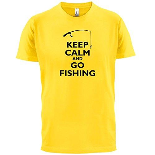 Keep Calm and Go Fishing - Herren T-Shirt - 13 Farben Gelb