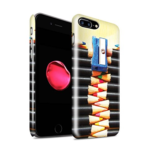STUFF4 Glanz Snap-On Hülle / Case für Apple iPhone 8 Plus / Löffel/Streifen Muster / Abstrakte Kunst Kollektion Bleistifte/Zip