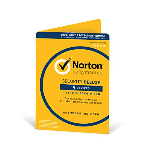 Price comparison product image Norton Security Deluxe 2018 / 5 Devices / 1 year / Antivirus included / PC / Mac / iOS / Android / Download