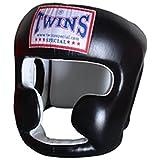 M-L tamaño negro cuero especial casco Protector boxeo Gemelos cabeza (hgl-3) guardia, color , tamaño mediano