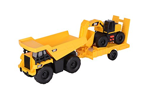 Toy State Light and Sound CAT Truck N' Trailer Dump Pulling Excavator Vehicle (Trailer Dump Truck)