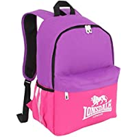 Lonsdale Pocket Backpack Purple Pink Rucksack Sports Bag Gymbag Kitbag 1b79455cf0