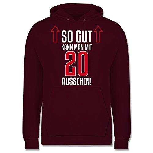 Geburtstag - So gut kann man mit 20 aussehen - Männer Premium Kapuzenpullover / Hoodie Burgundrot