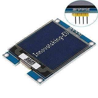 I2C OLED Arduino lcd Display TFT Anzeigemodul 1,5-Zoll-OLED-Modul Arduino LCD-Display SSD1327 Treiberchip,128x128 Pixel,16-Bit-Graustufe mit I2C-Schnittstelle,DC 3,3 V / 5 V für Arduino