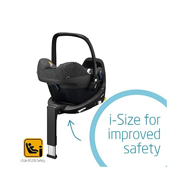 Maxi-Cosi Pebble Plus Baby Car Seat Group 0+, ISOFIX Car Seat, i-Size, 0-12 m, 0-13 kg, 45-75 cm, Nomad Black Maxi-Cosi Baby car seat, suitable from birth to approximate 1 year (0-13 kg, 45-75 cm) Fits with compatible Maxi-Cosi base unit for ISOFIX installation i-Size for enhanced safety and optimal protection against side impacts 5