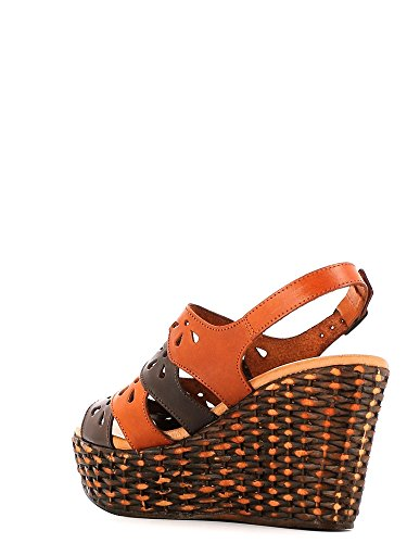 KEYS 5154 Sandalo zeppa Donna Marrone