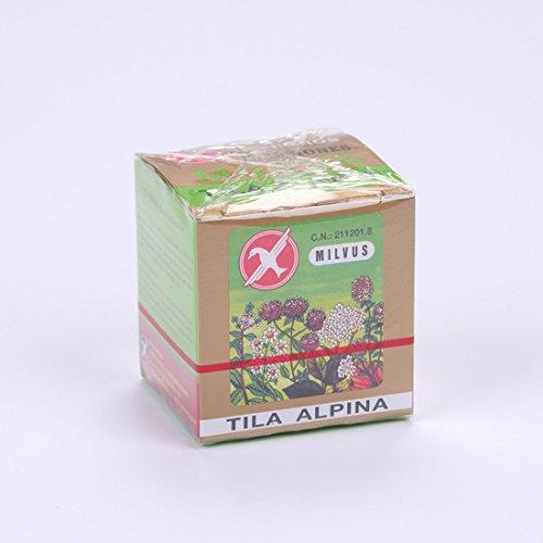 Milvus Tila Alpina Flor es una infusión indicada en el tratamiento de afecciones menores que cursen con nerviosismo, excitación, angustia, insomnio ocasional, así como trastornos digestivos debidos a alteraciones nerviosas.