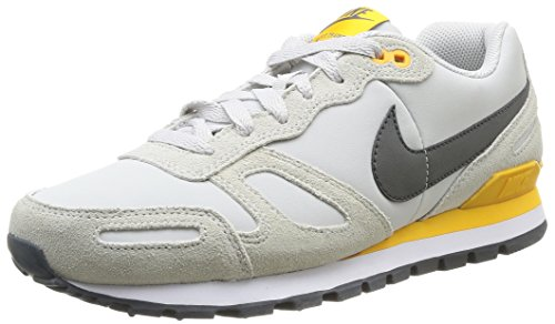 Nike Air Waffle Trainer Leather Herren Low-Top Sneaker, Mehrfarbig (Light Ash Grey/Medium Ash/White/University)