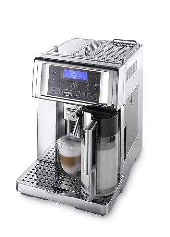 De'Longhi PrimaDonna Avant Chrome ESAM 6750 Kaffeevollautomat (Sensor-Bedienfeld, integriertes Milchsystem,
