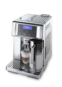De'Longhi PrimaDonna Avant Chrome ESAM 6750 Kaffeevollautomat (Sensor-Bedienfeld, integriertes Milchsystem, Lieblingsgetränke auf Knopfdruck, Edelstahlgehäuse, 2-Tassen-Funktion) Verchromtes Edelstahl
