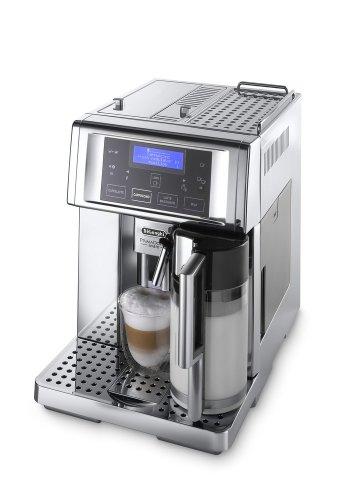 Primo Cappuccino-maschine (De'Longhi PrimaDonna Avant Chrome ESAM 6750 Kaffeevollautomat (Sensor-Bedienfeld, integriertes Milchsystem, Lieblingsgetränke auf Knopfdruck, Edelstahlgehäuse, 2-Tassen-Funktion) Verchromtes Edelstahl)