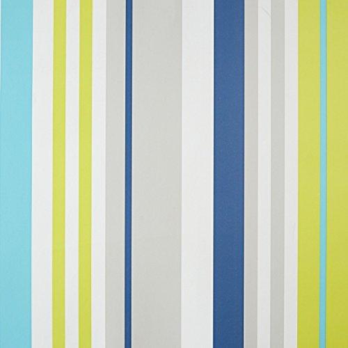 CASELIO ONLY Boys 64877062Tapete in weiß, grau, Pistaziengrün Tönen und Blau gestreift