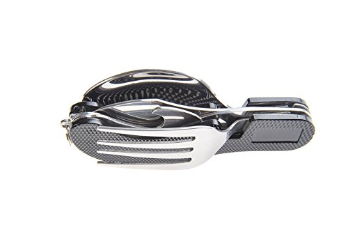 Purposefull Camping Cutlery Kit - Detachable Stainless Steel KFS Set - With Bottle Opener