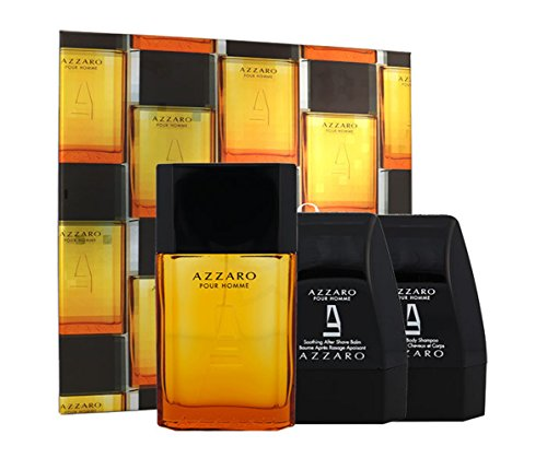 AZZAR0 pour Homme Eau de Toilette 100 ml + Shower Gel 75 ml + After Shave Balsam 75 ml im Set