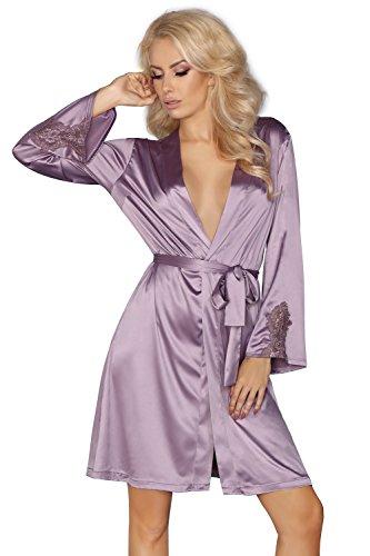 Livia Corsetti Fashion Damen Morgenmantel Gr. Large/X-Large (38 Nach 40), Lilac (Chemise Lilac)