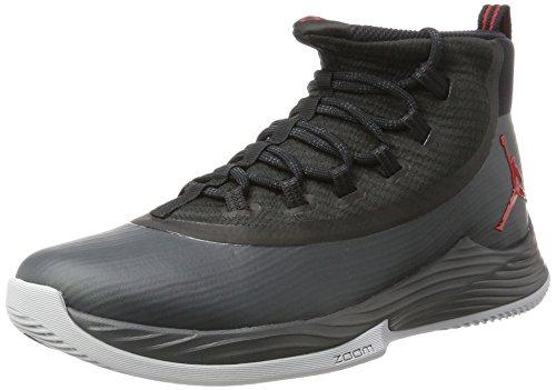Nike Herren Jordan Ultra Fly 2 Basketballschuhe, Mehrfarbig (Black/University Red/Anthracite), 44 EU