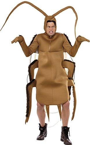 Kakerlake Kostüm Braun Bodysuit mit Ärmeln, One (Kakerlake Kostüme Erwachsene Herren)