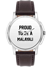 Wrist Watch For Men - Proud To Be A Malayali Best Gift For MALAYALI - Analog Men's And Boy's Unique Quartz Leather...