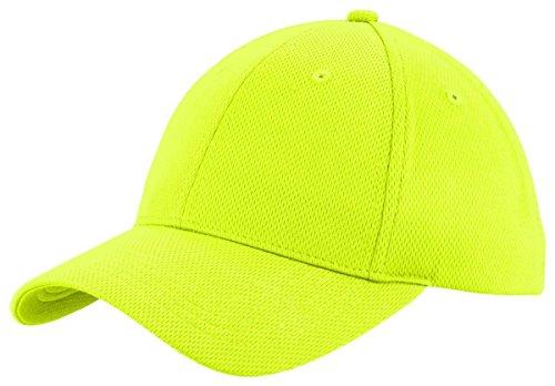 SportTek Herren Baseball Cap Gelb Neon Yellow Einheitsgröße
