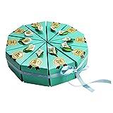MNHJG Süßigkeitensack 10 stücke Kuchenform Papier PralinenschachtelHandgemachteZuckerboxen Gastgeschenkefür Hochzeit Geburtstag Brautdusche, blau
