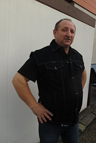 Jeans Weste - Schwarz - ÜBERGRÖßE - Gr.: 3XL - 8XL Schwarz