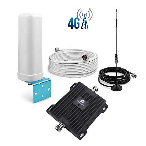 Proutone 4G Handy Signalverstärker 800MHz (Band 20) Boost LTE Signal Repeater+ Antenne Kit für Verwendung zuhause/Büro-Kabel