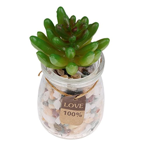 ELECTROPRIMEÃ?â??® Set of 2 Artificial Succulent Flower Faux Plastic Plant Garden Decor 796
