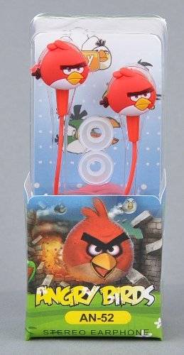 Angry Birds In-Ear Kopfhörer Nintendo Sony PSP Iphone Ipad in rot Angry Birds Psp
