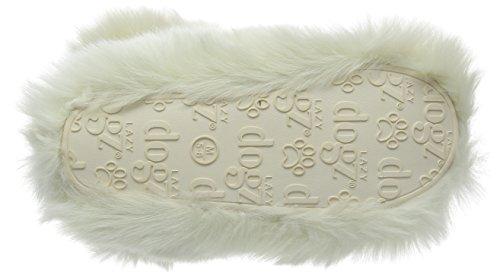 Lazy Dogz Damen Poppy Hausschuhe Weiß