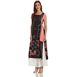 W for Woman Straight Kurta (17FE16485-58553_14_BLACK)