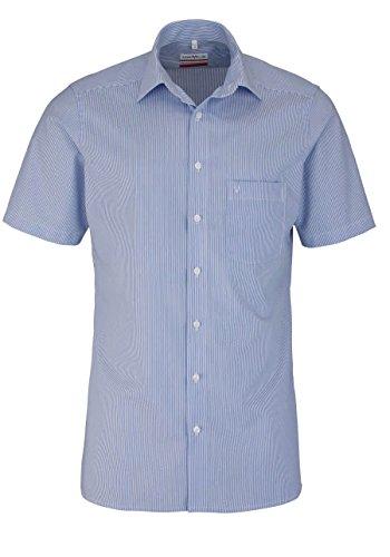 Marvelis Hemd Modern Fit blau/weiss, Zündholzstreifen, Größe 43 - XL - Fit-blauer Streifen