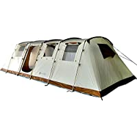 SKANDIKA Casablanca Tente de camping tunnel familiale pour 12 personnes 700 x 400 cm