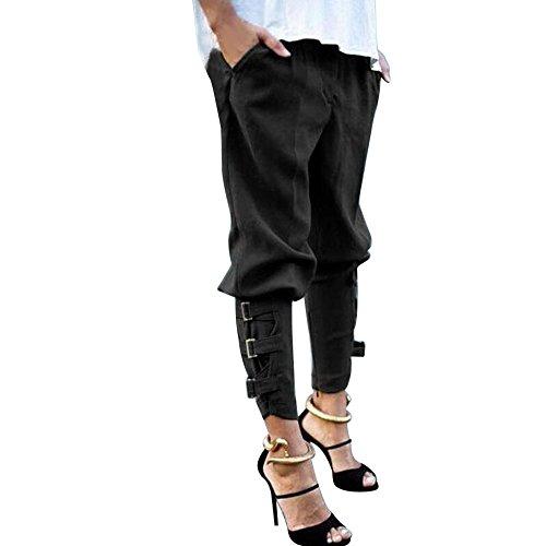 Huihong Sweat Hosen für Frauen Casual Harem Baggy Hip Hop Tanz Jogginghose Hosen Freund Hosen S-5XL (Schwarz, M)