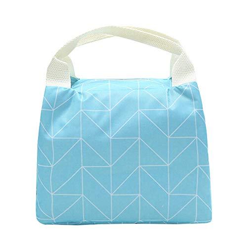 7Lucky Kühltasche Kühlbox Lunchtasche,Polyester Mittagessen Tasche Thermotasche Isoliertasche Picknicktasche für Lebensmitteltransport (A)