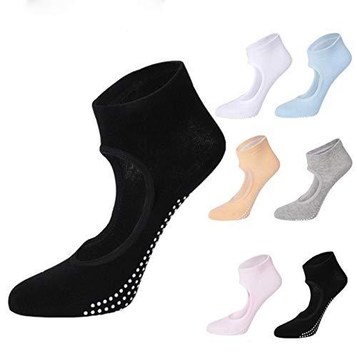Creator2018 2 Paar Damen Sportsocken Atmungsaktiv Yoga Socken rutschfest für Pilates, Barre, Ballett, Tanz 35-39EU
