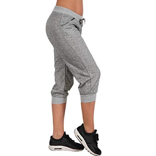 LILIGOD Damen Sport Laufhose Frauen Sommer Yoga Hosen Beiläufige Einfarbig Sporthose Mode Enge Leggings Outdoor-Shorts, Frauenbund, Schmaler Lauf, Kurze Hosen, Bequem Hosen -