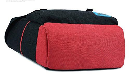 Keshi Leinwand Cool Damen accessories hohe Qualität Einfache Tasche Schultertasche Freizeitrucksack Tasche Rucksäcke Schwarz