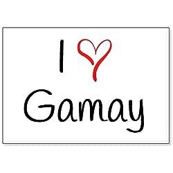 Mundus Souvenirs - J'adore Gamay, Aimant de réfrigérateur (désign 2)